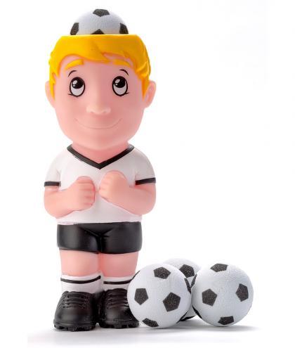 Leif Plopper Fussball mit 4 Schaumstoffbälllen - weiss