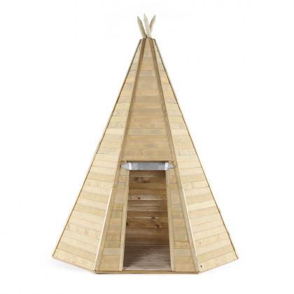 Plum Holz Tipi Hideaway Spielzelt, 330 cm - natur