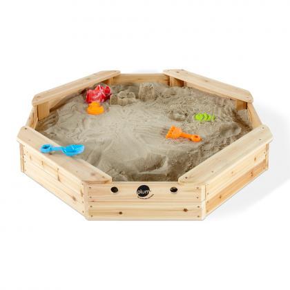 Plum Holz Sandkasten Schatzinsel, 116x116x16 cm -  natur