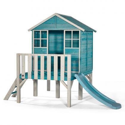 Plum Holz Spielhaus Boathouse auf Stelzen - türkis