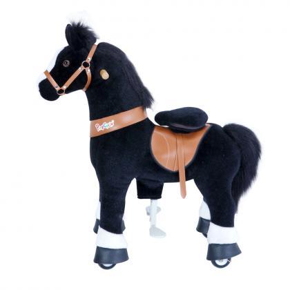 PonyCycle U Classic Pony für 3-5 Jahre - schwarz