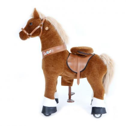 PonyCycle U Classic Pony für 3-5 Jahre - braun