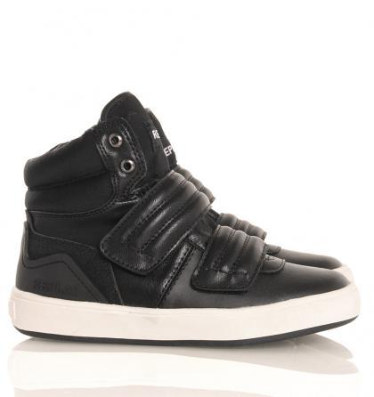 Replay High-Sneaker mit Klett und Zipper in schwarz