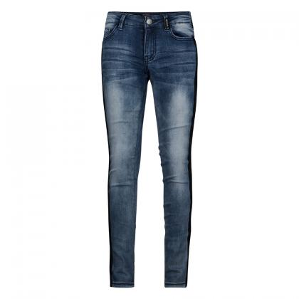 Retour skinny jeans Annemoon with track stripes - blue