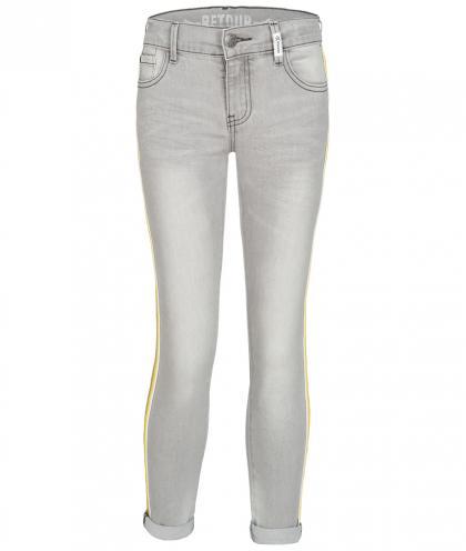 Retour skinny jeans Valentina with glitter stripes - grey