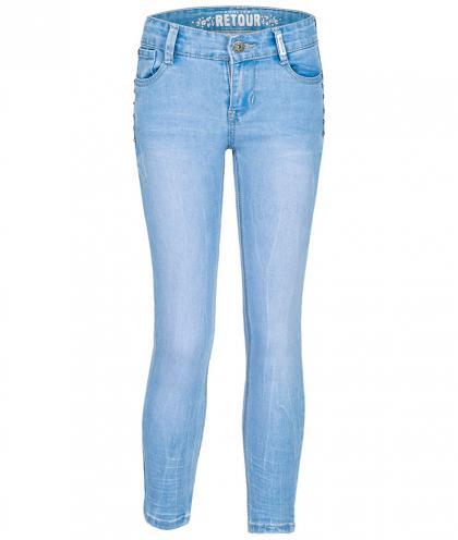 Retour Skinny Jeans Bloem mit Nieten - bright blue