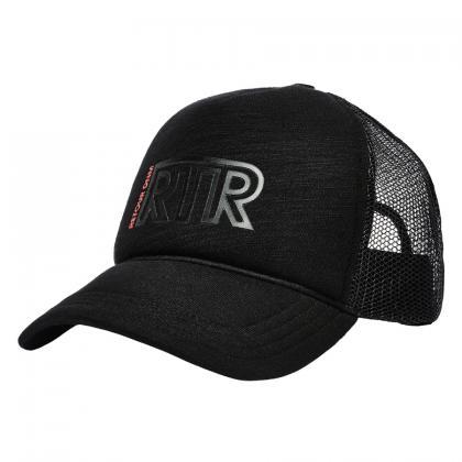 Retour Snapback Cap Mas aus Mesh mit Logo - schwarz
