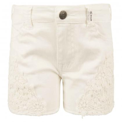 Retour shorts Isabella with emboidery - white