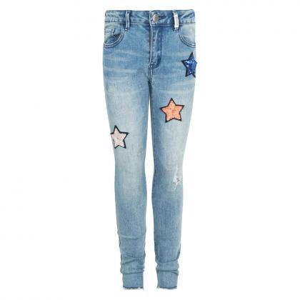 Retour Skinny Jeans Philippa mit Pailletten - light blue