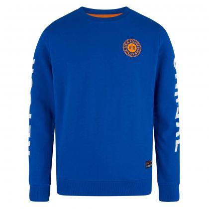 Retour Sweatshirt Sammy mit Print - blau