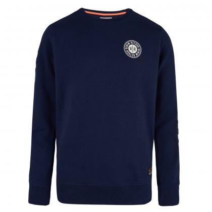 Retour Sweatshirt Sammy mit Print - navy