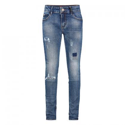 Retour Skinny Jeans Jacky Used Look - blau