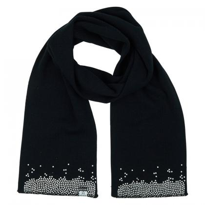Retour scarf Gypsy with silver print - black
