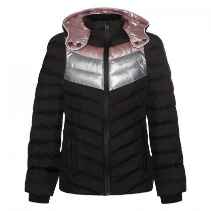 Retour quilted jacket Helene with metallic inserts - anthracite