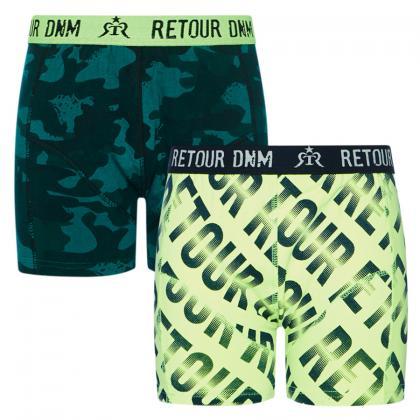 Retour boys boxer set Francesco - neon logo/camouflage