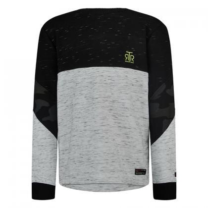 Retour Sweatshirt Charles mit Rückenprint und Zippern - schwarz