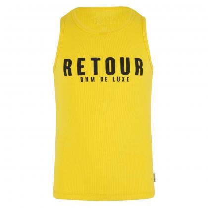 Retour Tanktop Sheila mit Logo Print - gelb