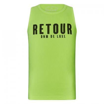 Retour tanktop Sheila with logo print - neon yellow