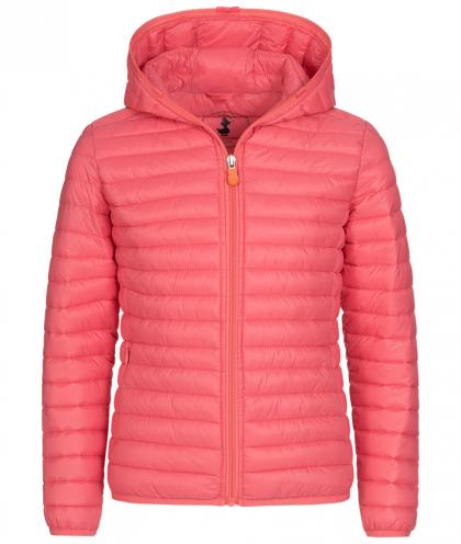 Save the Duck GIGA6 Kinderjacke aus Plumtech in coral pink