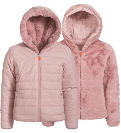 Save the Duck Wendejacke Fury mit Teddyfell-Futter in pink