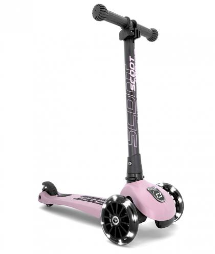Scoot & Ride Highwaykick 3 mit LED Rädern - rose