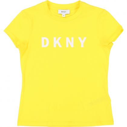 DKNY t-shirt with logo - yellow