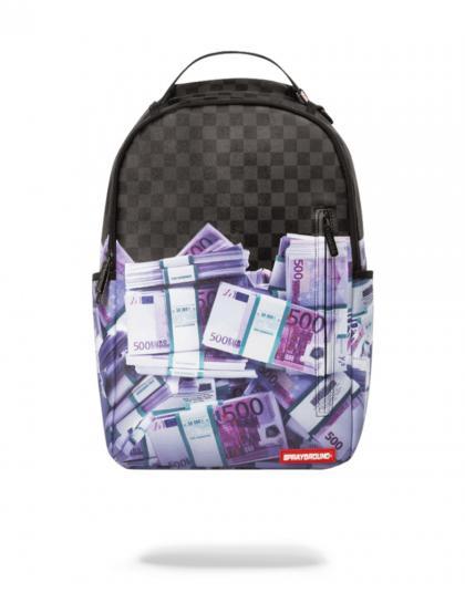 Sprayground Rucksack Euro Money Stacks - schwarz