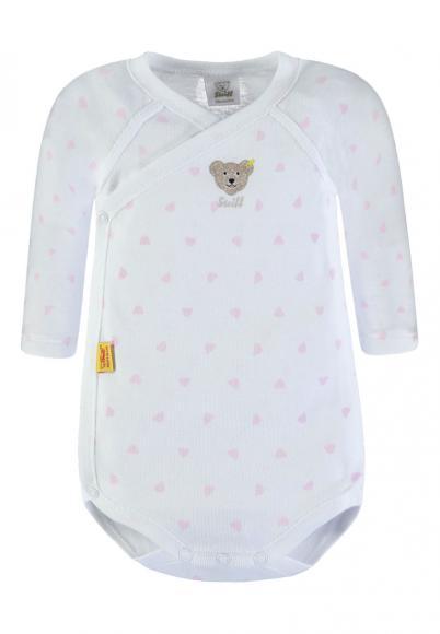Steiff Baby Wickelbody mit Allover Print in rosa-weiss