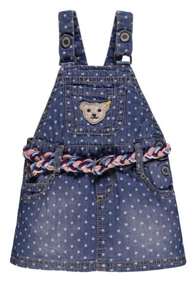 Steiff Jeanskleid mit Allover Print in blau