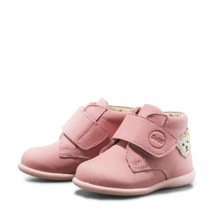 Steiff leather first step shoes Valentiin in pink