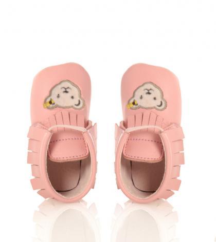 Steiff Babyschuhe Nooah aus Leder in rosa