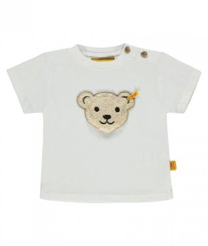 Steiff Shirt mit Teddy-Geräusch in weiss