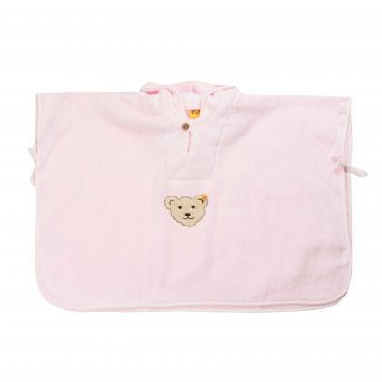 Steiff kuscheliger Bade Poncho in rosa