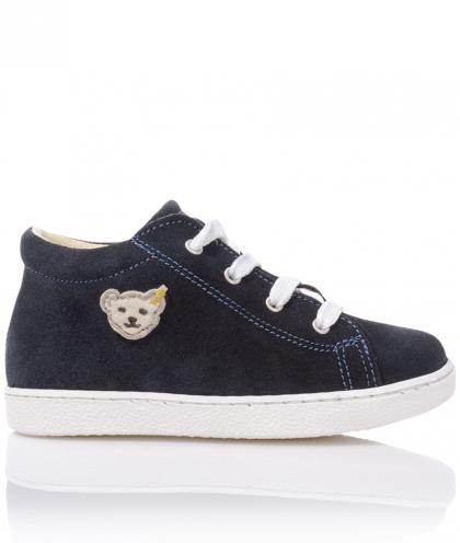 Steiff leather first step shoes Juulian - navy
