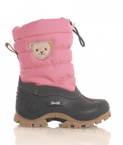 Steiff winter boots Erica with lambs fur in rose