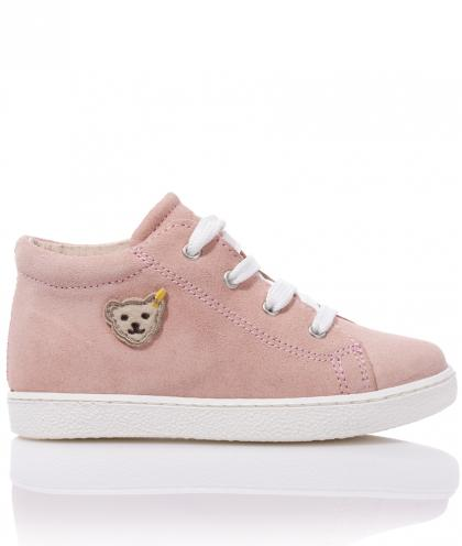 Steiff leather first step shoes Juulian - pink