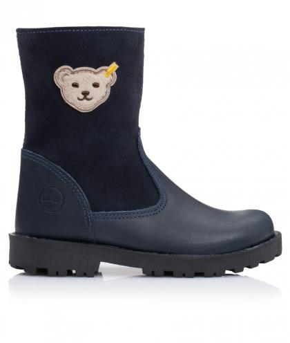 Steiff lined winter boots Noora made of TEX leather in blue