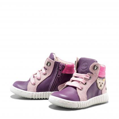 Steiff Leder-Lauflernschuhe Milaan in lila-rosa