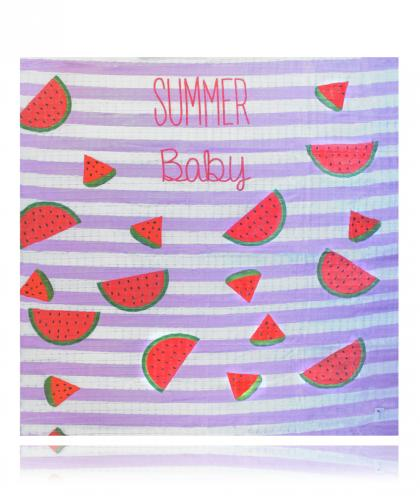 Swaddlies soft baby burp cloth Summer Baby - pink