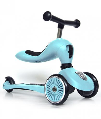 Scoot & Ride 2 in 1 Highwaykick1 - blueberry