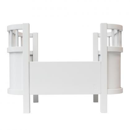 Sebra wooden dolls bed - classic white