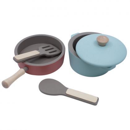 Sebra Holz Küchengeräte Set, 5 Teile - bunt