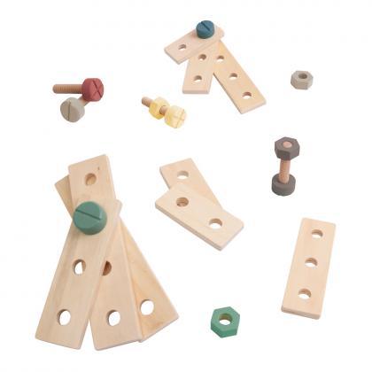 Sebra Holz Bau-Spielset, 21 Teile - bunt