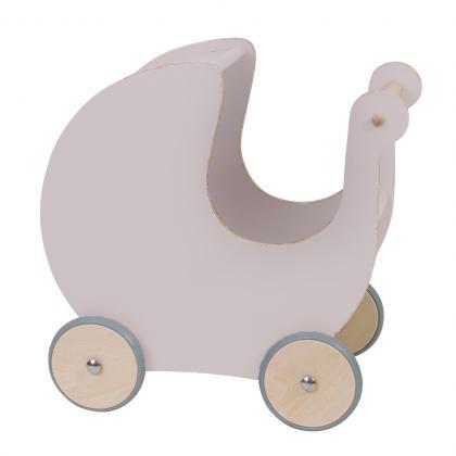 Sebra Holz Puppenkinderwagen - dusty pink