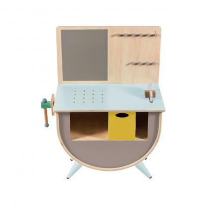 Sebra wooden play tool bench - grey