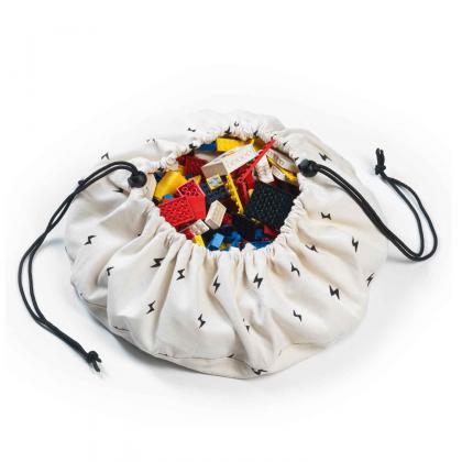 Play&Go Mini Spielsack/-matte Thunderbolt - creme Ø40 cm