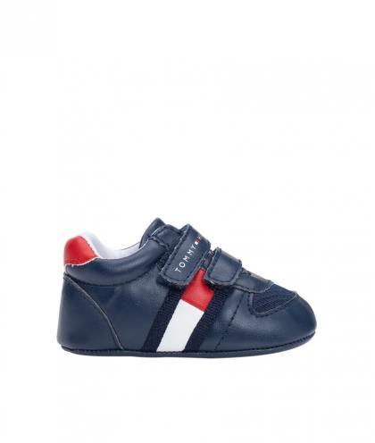 Tommy Hilfiger Baby-Sneaker aus Leder in navy