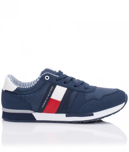Tommy Hilfiger Schnür-Sneaker aus Leder in navy