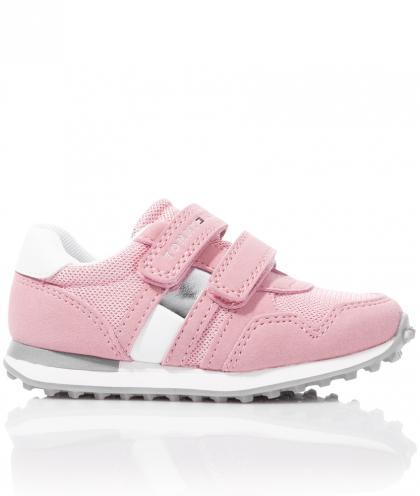 Tommy Hilfiger Sneaker mit Klett und Mesh - rosa
