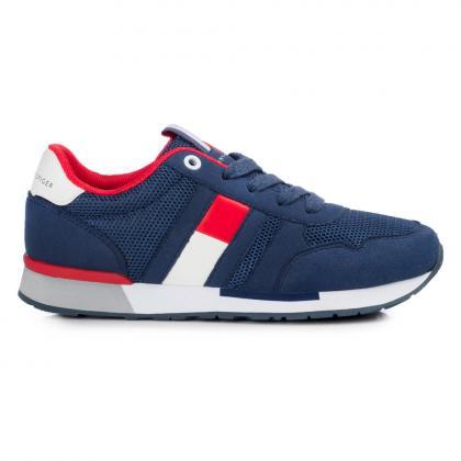 Tommy Hilfiger Sneaker mit Mesh - navy